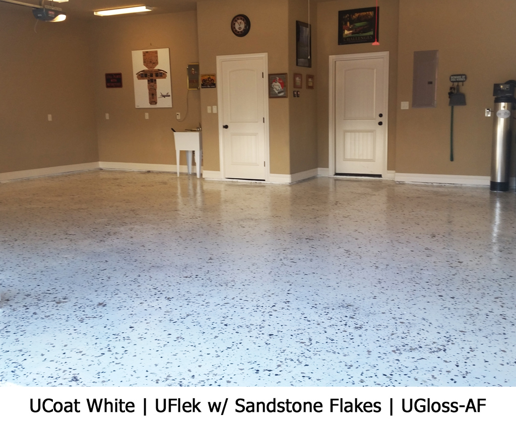 UCoat White | UFlek w/ Sandstone Flakes | UGloss-AF Photo Gallery Image