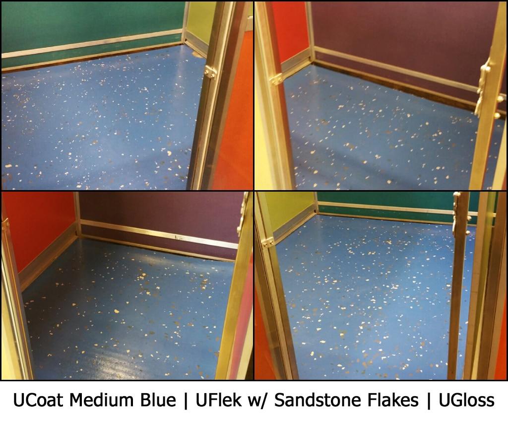 UCoat Medium Blue | UFlek w/ Sandstone Flakes | UGloss Photo Gallery Image