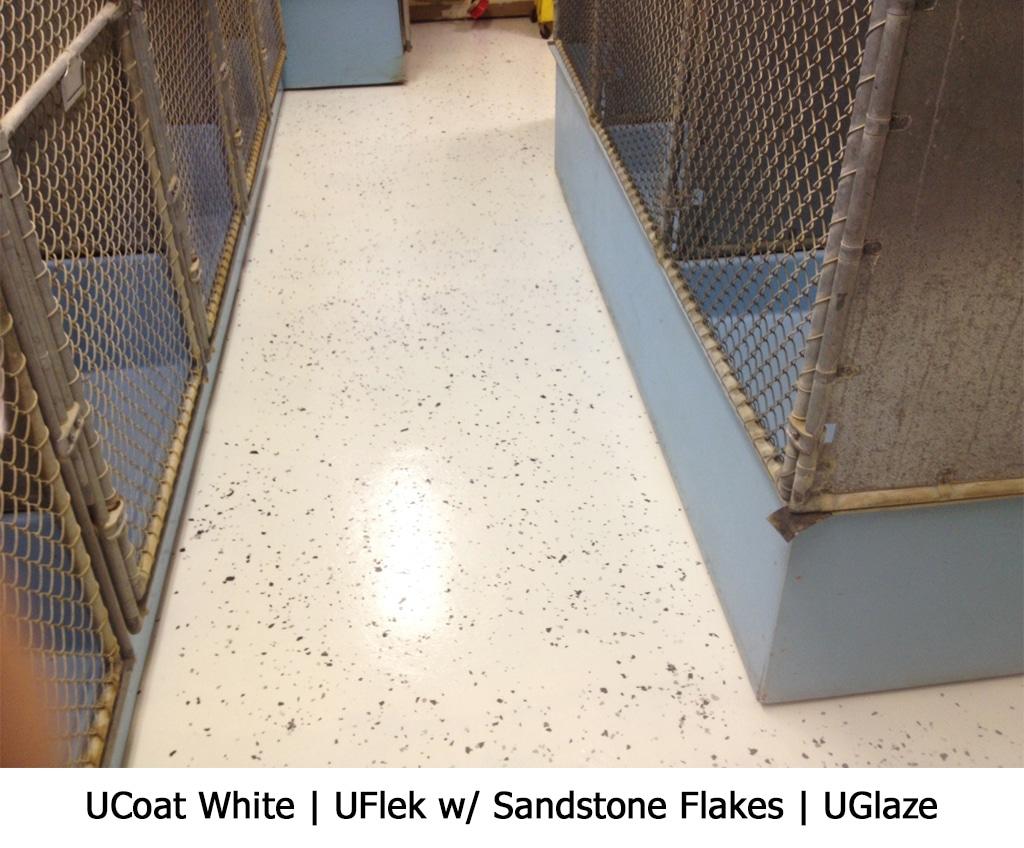 UCoat White   UFlek w/ Sandstone Flakes   UGlaze Photo Gallery Image