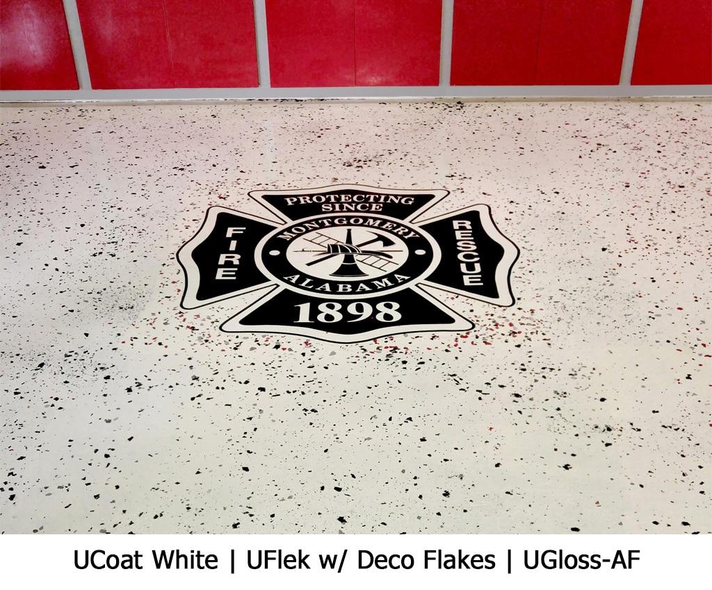 UCoat White   UFlek w/ Deco Flakes   UGloss-AF Photo Gallery Image