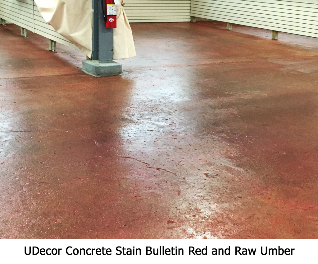UDecor Concrete Stain Bulletin Red and Raw Umber Photo Gallery Image