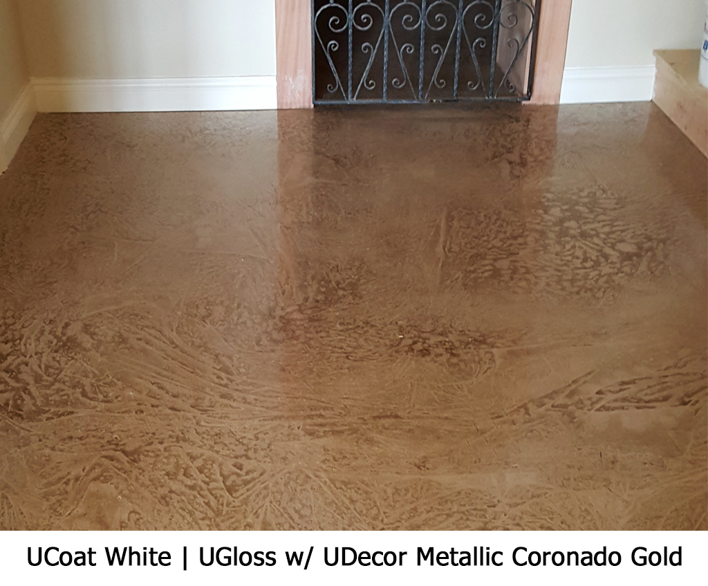 UCoat White | UGloss w/ UDecore Metallic Coronado Gold Photo Gallery Image