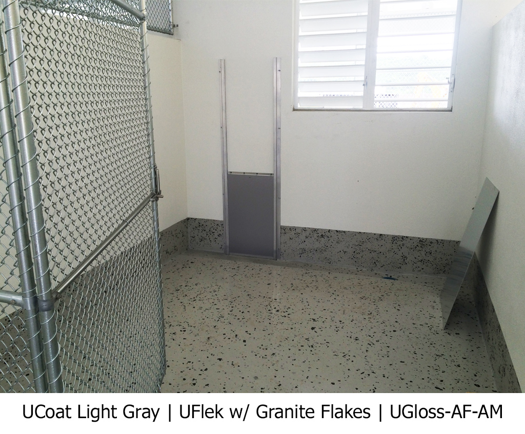 UCoat Light Gray | UFlek w/ Granite Flakes | UGloss-AF-AM Photo Gallery Image
