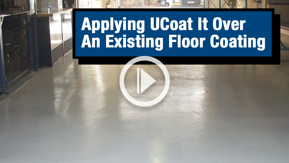 Applying Over an Existing Floor Coating Video Image