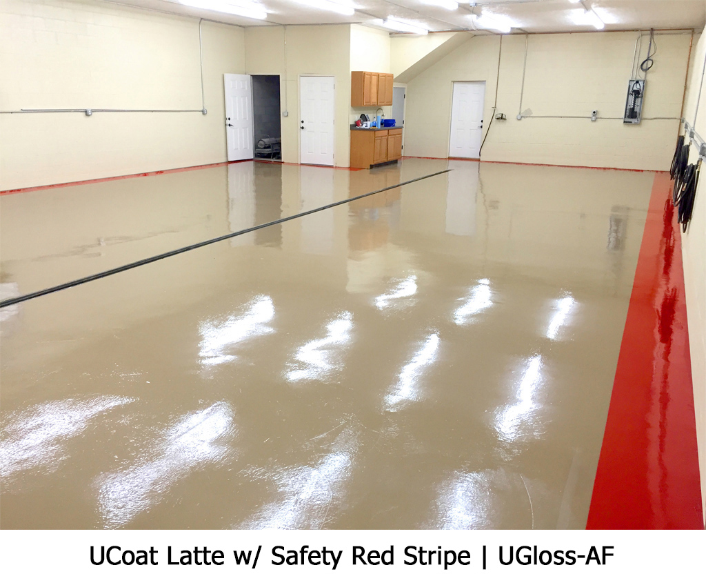UCoat Latte w/ Safety Red Stripe | UGloss-AF Photo Gallery Image