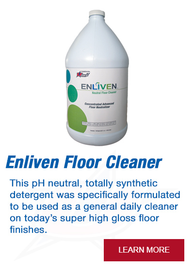 This pH neutral, totally synthetic detergent was specifically formulated to be used as a general daily cleaner on today's super high gloss floor finishes.