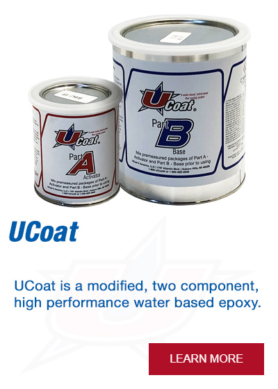 UCoat is a modified, two component, high performance water based epoxy.