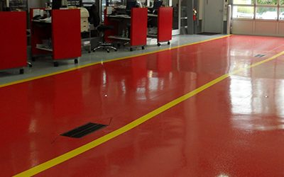 UCoat with UFlek-AF Floor Coating System
